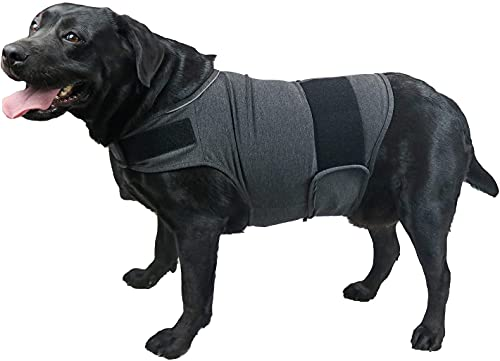 QIYADIN Dog Comfort Dog Anxiety Relief Coat, Breathable Thunder Shirts for Dogs, Dog Anxiety Vest Jacket Warp, Puppy Anxiety Calming Vest Wrap (XL)