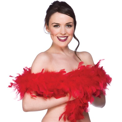 Feather Boa Super Soft Ladies Fancy Dress Red