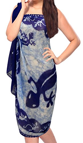 "LA LEELA Women's Sarong Wrap Swimwear Cover Up Beach Yoga Mats 72""x42"" Blue_K452"