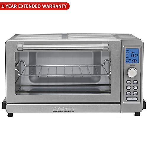 Cuisinart TOB-135 Deluxe Convection Toaster Oven Broiler, Brushed Stainless Refurbished