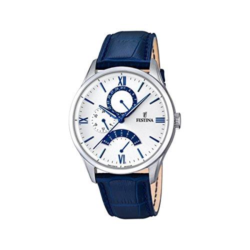Festina Herren Analog Quarz Uhr mit Leder Armband F16823/5