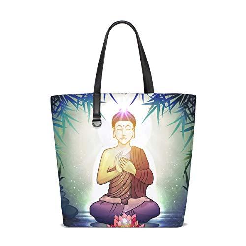 Deziro Bouddha en méditation avec des sacs de fleurs de lotus pour un usage quotidien