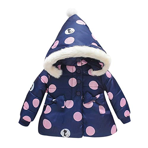 Fantastic Deal! jin&Co Infant Toddler Kids Baby Girls Down Jacket Hoodies Cartoon Print Bowknot Th...