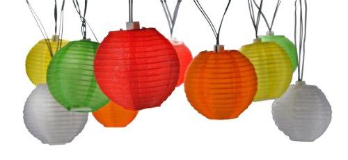 44 lampenketting, 20 LED lampion-lichtsnoer lantaarns lichtketting tuin Solar Lampion Party verlichting Party Lights LED Dekoleuchte Solar Lamp Lampion kleurrijke buitenverlichting LED lampen Garden verlichting Artra