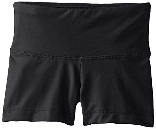 Capezio girls Team Basic Gusset Short, Black, Large (10-12)