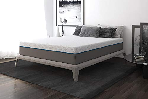 Signature Sleep Flex 12-Inch Charcoal Gel Memory Foam Mattress, Queen Size