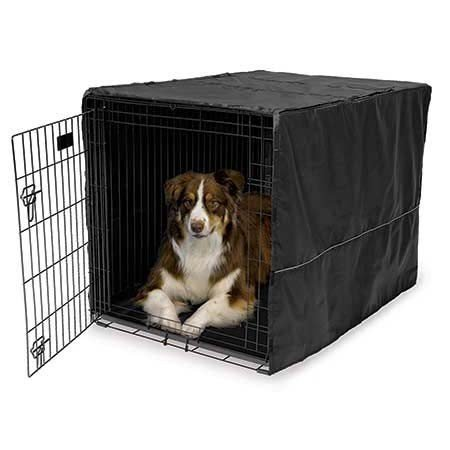 """Midwest Quiet Time Pet Crate Cover Black 42"""" x 28"""" x 30"""""""