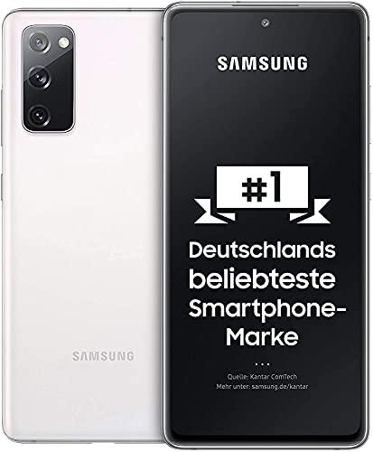 Samsung Galaxy S20 FE, Android Smartphone ohne Vertrag, 6,5 Zoll Super AMOLED Display, 4.500 mAh Akku, 256 GB/ 8 GB RAM, Handy in Cloud White inkl 36 Monate Herstellergarantie [Exklusiv bei Amazon]