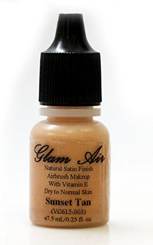 Glam Air Air Brush Makeup Foundation in Satin Finish Great for Normal to Dry Skin in 0.25 Fl Oz Bottle (S9 Summer Tan) by Glam Air