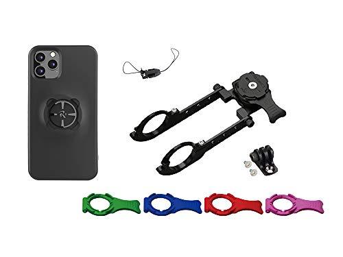 [REC MOUNT+ / レックマウントプラス] Cycle マウント キット iPhone 11 Pro 用【R+Cycle1-iPC7】(ナローマウント R+Narrow1(31.8mm用)+ 専用ケース) R+Narrow1-iPC7