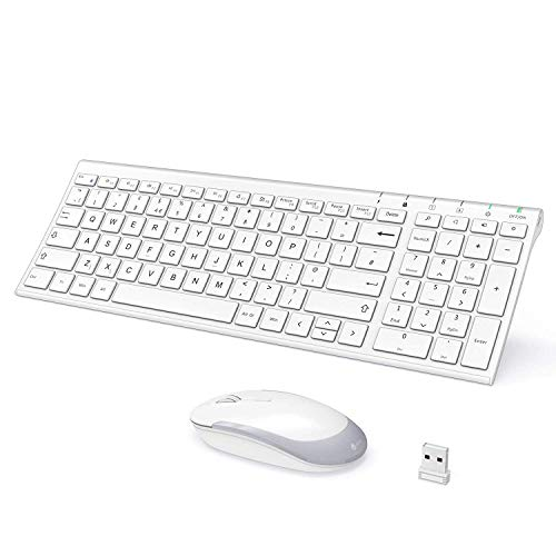 Preisvergleich Produktbild Keyboard and mouse UK layout rechargeable keyboard,  (Weiss,  Grau)