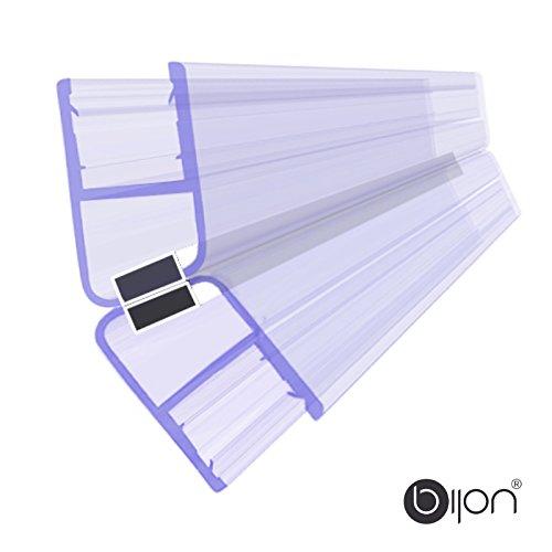 135 Grad SET (2 x 22,5 Grad) Magnetprofil Duschtürdichtung | Weiße Magneten | Für 5-6mm Glastärke