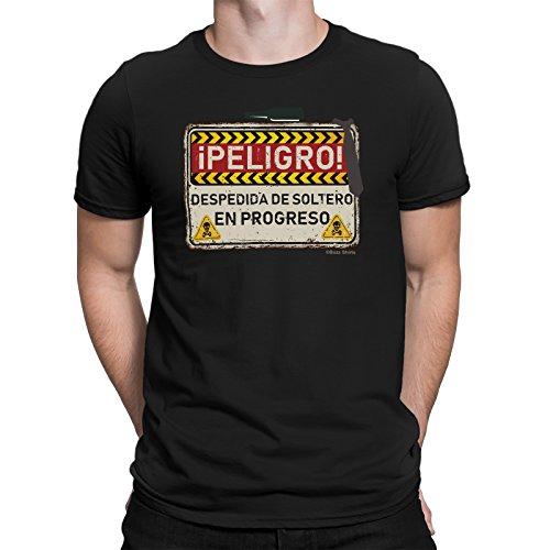 buzz shirts iPeligro Despedida de Soltero Danger Mens T-Shirt Spain Espana Funny Stag