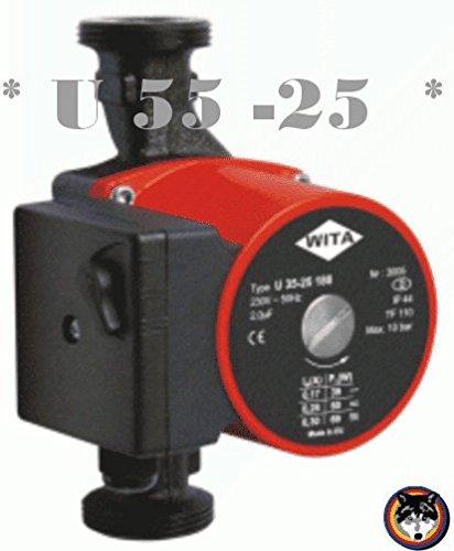 Heizungspumpe WITA U 55-25 180mm 25-6 / Grundfos - Wilo / 6,00 m Solar Pumpe