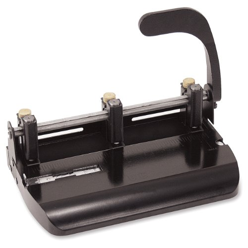 Officemate Heavy Duty Adjustable 23 Hole Punch with Lever Handle 32Sheet Capacity Black 90078