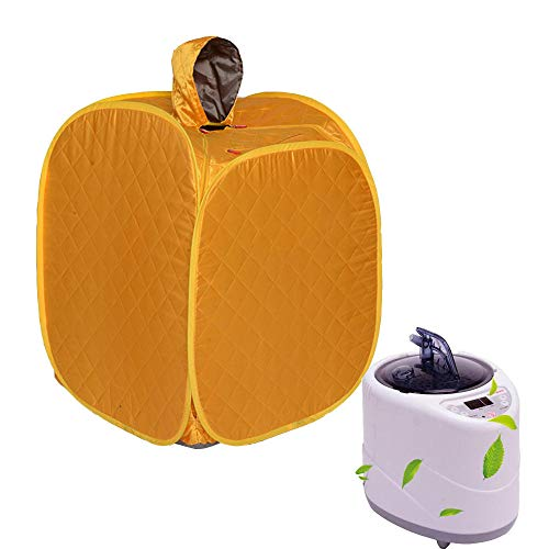 HYQW Infrarot Sauna Tragbare Personal Spa Trockene Sauna Mini Infrarotkabine Entgiftung Abnehmen,Yellow