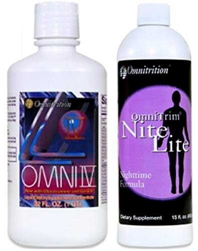 Omnitrition Bundle of 2 Products - the 'AM and PM Bundle' Includes Omni IV Liquid Vitamin with Glucosamine and OmniTrim Nite Lite
