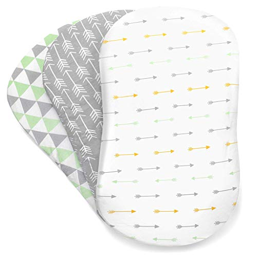 DFVVR Baby-Pads, 3-teilig, weiches Babybettchen, Spannbettlaken für...