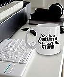 N\A Regalo de armero - Taza de armero - Taza de café de armero - Sí, Soy un armero Pero no Puedo Arreglar lo estúpido