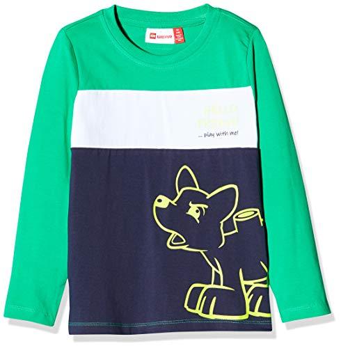 Lego Wear Lwtommas T-Shirt À Manches Longues, Multicolore (Green 869), 98 Bébé garçon