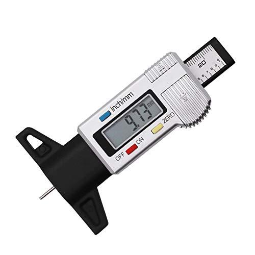 Lumpur Messgerät Tester Auto Profil Tiefe cker Genaue Bremssattel Reifen LCD Display Tool Truck Digital(Weiß)