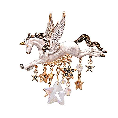 KEWEIT Broche de diamantes de imitación, accesorio para mujer, retro, aleación, diseño de aguja, regalo especial para mujeres y niñas