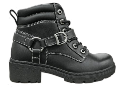 Milwaukee Motorcycle Clothing Company Womens Paragon Boots (Black, Size 10)