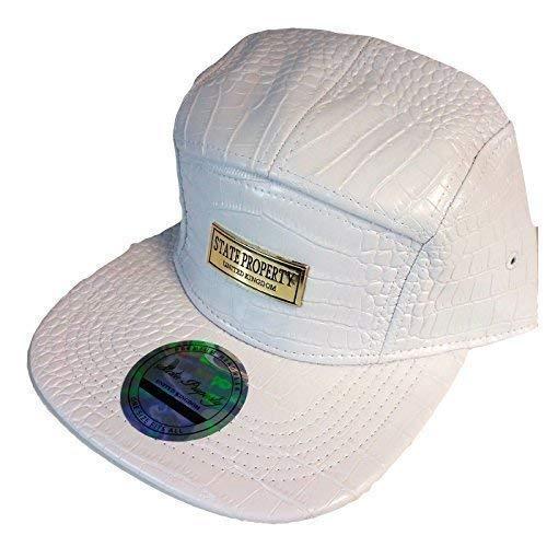 State Property Complet Bracelet Simili Cuir Dos Capuchons, Hommes & Femmes Fresh Snapback Hip Hop Chapeaux - Blanc, One Size