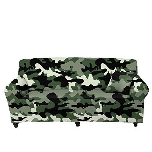 HXTSWGS Fundas de Sofa Cubierta de Sofa,Funda de sofá de Camuflaje Floral 3D, Funda Protectora elástica con Todo Incluido de Tela para el hogar, Funda de sofá para Sala de Estar-Color5_235-300cm