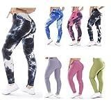 Trendcool Mallas Deportivas Mujer. Leggins Deportivos Mujer para Running, Padel, Yoga y Ejercicio. Mallas Deporte Mujer. Desteñido Azul Marino (M7, L/XL)