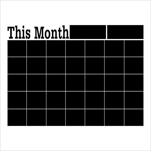 Chnrong Calendario magnético de borrado en seco, planificador mensual negro, adhesivo de...