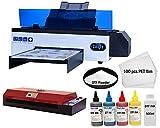 Impresora UV A3 Pro actualizada 2021, impresora plana UV totalmente automática con placa base silenciosa, tamaño de impresión 420 x 270 mm (+ accesorio rotativo) (impresora A3 Pro)