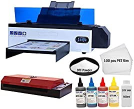 DTF Transfer Printer A3 L1800 T Shirt Printer for All Kinds of Fabrics, Leather, Bags, Toys, Swimwear, Handicrafts, T Shirt, Pillow, Bags, Denim Other Industries.(DTF Printer + Oven+500ml Ink)