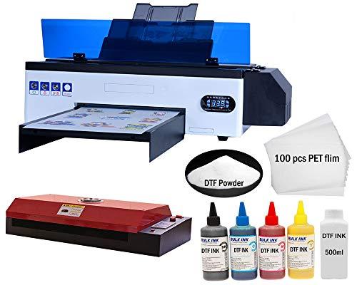 Stampante UV A3 Pro 2021, completamente automatica UV Flatbed stampante con scheda madre silenziosa, dimensioni di stampa alimentazione 420 x 270 mm (+ attacco rotante) (stampante A3 Pro)