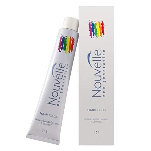 NOUVELLE NEW GÉNÉRATION Crème colorante pour cheveux avec complexe d'extraits naturels et vitamine C (9.201 Lune D' Argent 100 ml