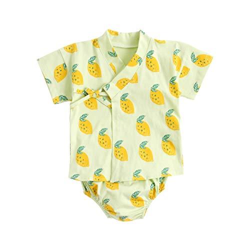 UMore Algodón Impreso Bebé Chicas Ropa Verano Recién Nacido Bebé Conjunto de Ropa Casual Recién Nacido Bebé Conjunto de Ropa Casual