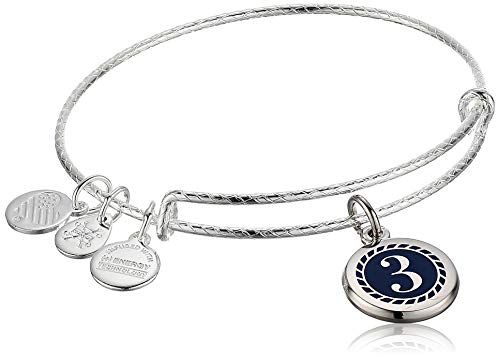 Alex and Ani Color Infusion Numerology Three EWB, SS, Shiny Silver, One Size (A20EBNUM3SS)