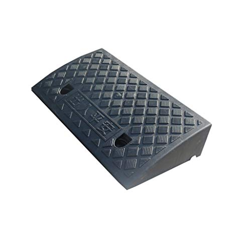 ChenB- Small Tools Rampe di soglia, Withstand Voltage Neve Protezione Triangolo di plastica Pad Scale Stradale Veicolo in Movimento Skateboard Ramps (Color : Black, Size : 50 * 27 * 9CM)