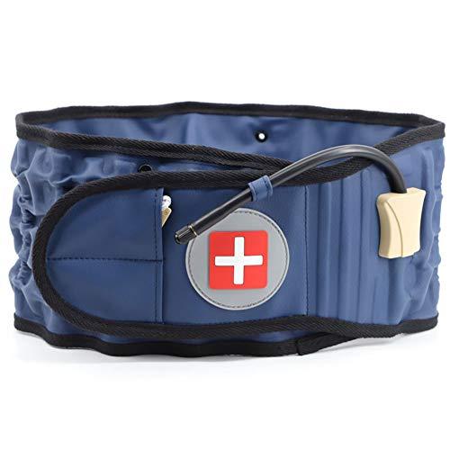 SHAIRMB Dispositivo Trazione Gonfiabile Massaggio Posteriore, Supporto Lombare della Cintura Decompressione Posteriore, Cintura Posteriore Decompressione Fisica per Gli Uomini e Donne,Blu,XL
