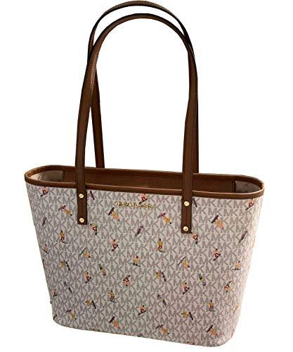 Michael Kors Aspen Medium PVC Leather Tote Shoulder Bag (Vanilla Multi)