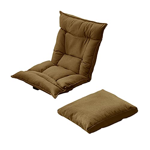 Plegable Lazy Chaise con Almohada, Lounge Reclinable, Silla Relajante Elegante, Lazy Sofa, Lounge Chair, Moderno Muebles para el Hogar Japonés, Silla De Suelo, Silla Japonesa PisoBrown