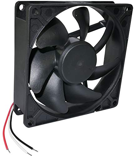 AERZETIX - Ventilador Axial de Refrigeración - para Caja de Ordenador PC - Vapo - Termoplástico - 12V DC - 92x92x25mm – 87.04m3/h - 3000rpm - 0.14A - 1.68W - 34dBA - C46940