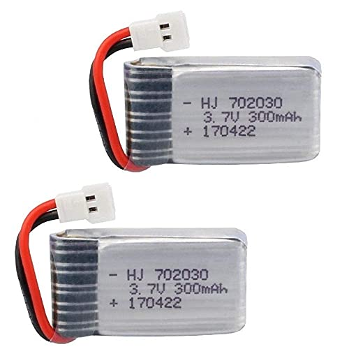 kusashangye Batteria di Ricambio RC 3. 7V 300mAH Batteria Lipo per U816 U830 F180 E55 FQ777 FQ17W H107 X11C FY530 Accessori Batteria per Drone RC ( Color : 2pcs )