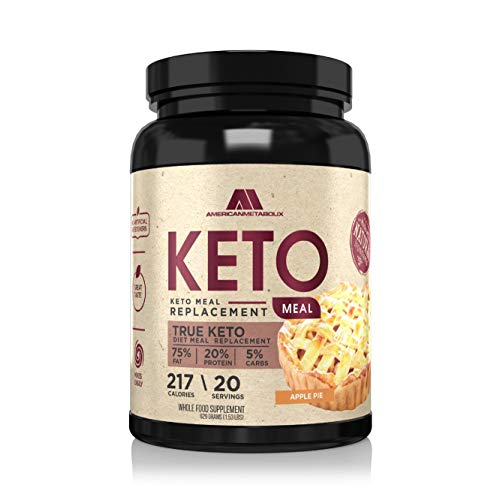 American Metabolix Keto Meal Replacement 215 Calories 75% F20% p 5% c 151 Pound Apple Pie