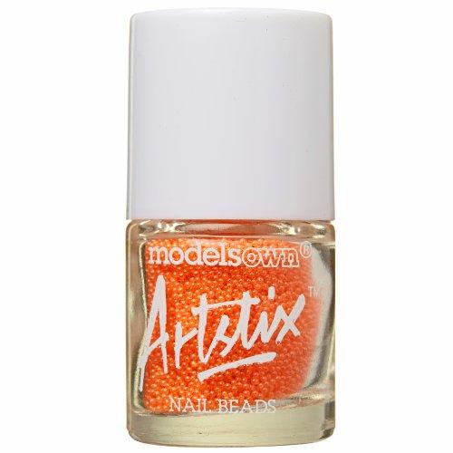 modèles propre Artstix à ongles Perles Orange fluo