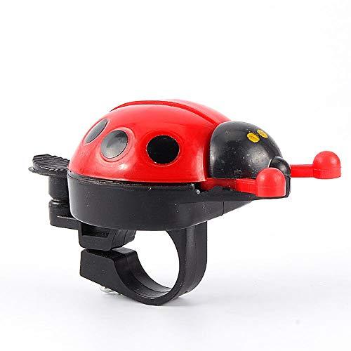 Dilwe Ladybug Fahrradklingel, Laut Ton Fahrradklingel Ring Fahrrad Lenker Glocke für Kinder Kleinkind Outdoor Fun