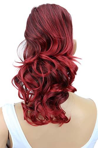 PRETTYSHOP 30cm Haarteil Zopf Pferdeschwanz Haarverlängerung Voluminös Gewellt Rot Mix PH213