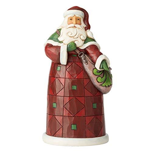 Jim Shore Heartwood Creek Babbo Natale con Borsa, 19 cm