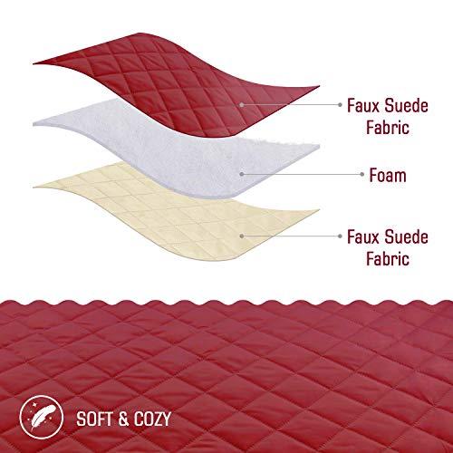 TAOCOCO Copridivano Poltrona Impermeabile Divano Protector Slipcovers (Borgogna, 2 posti 120 * 190cm)