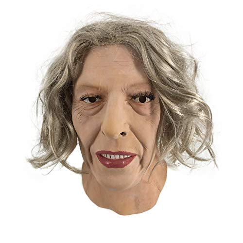 Theresa May Maske mit Haaren Britische Politiker Celebrity Spaß für Events und Partys Fun Halloween Party Dress Up UK Prime Präsident